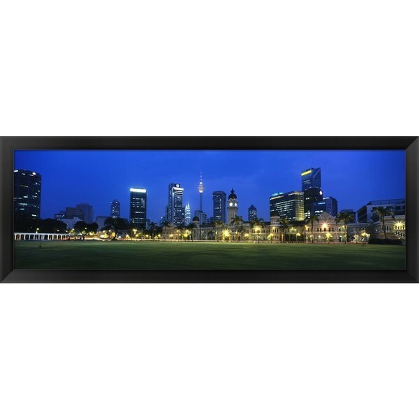 'Federal Secretariat Kuala Lumpur Malaysia' Framed Panoramic Photo