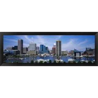 'Inner Harbor, Baltimore, Maryland' Framed Panoramic Photo