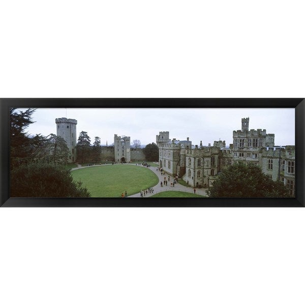 'Warwick Castle, England' Framed Panoramic Photo