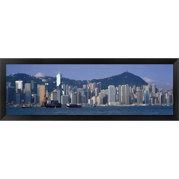 'Hong Kong China' Framed Panoramic Photo 12829628