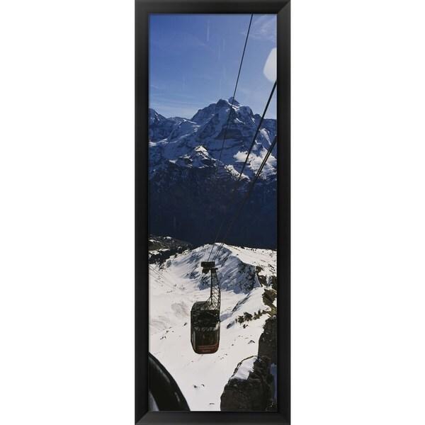 'Swiss Alps, Switzerland' Framed Panoramic Photo