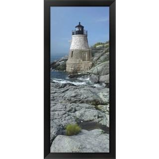 'Castle Hill Lighthouse, Newport, Rhode Island' Framed Panoramic Photo
