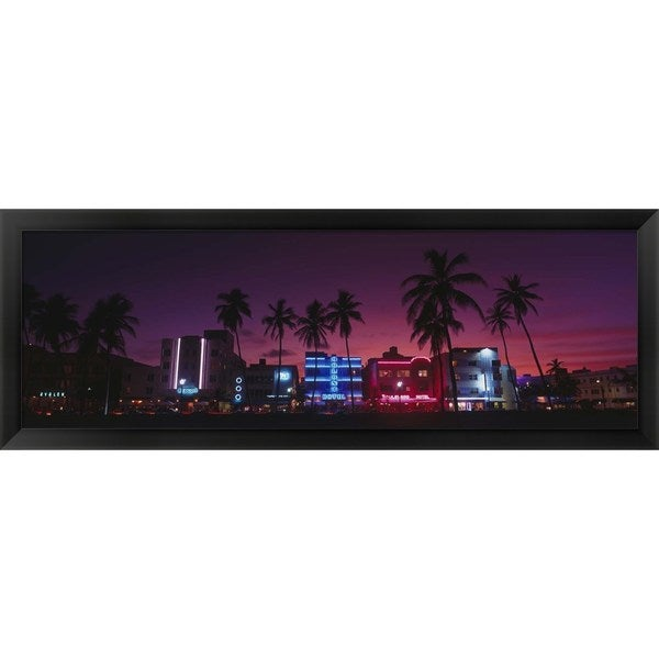 'South Beach Miami, Florida' Framed Panoramic Photo