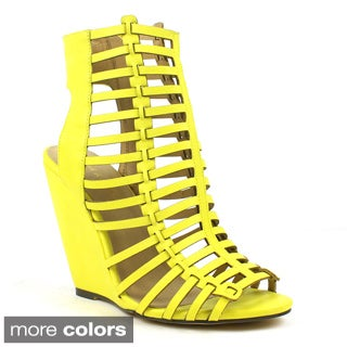 Mark and Maddux Women's 'Rashida-03' Strappy Gladiator Wedge Sandals