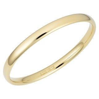 Oro Forte 14k Yellow Gold Polished Slip-on Bangle (small or large)