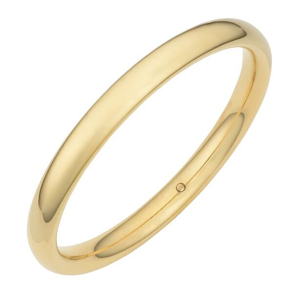 Oro Forte 14k Yellow Gold Polished Slip-on Bangle