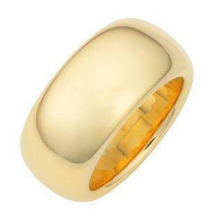 Oro Forte 14k Yellow Gold 11-mm Silk Fit Band Ring
