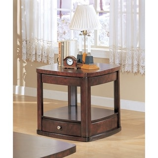 Dark Cherry One-drawer End Table