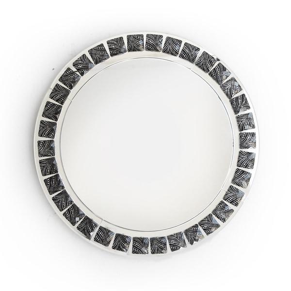Beaded Metallic Black Charger Plate