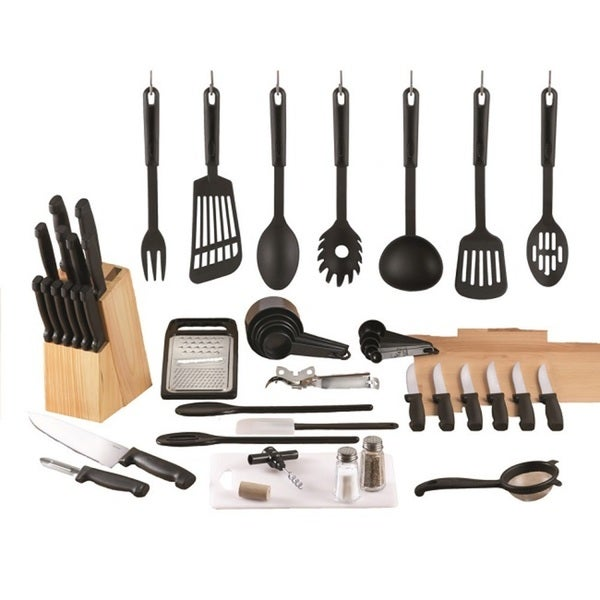 Essex Stainless Steel/ Nylon 48-piece Kitchen Starter Set