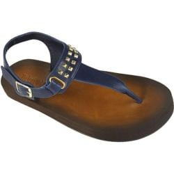 Women's Tidewater Sandals Corson Navy Navy/Gold