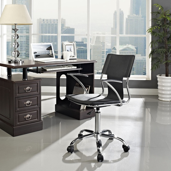 studio chrome plated adjustable office chair 16186258 overstock