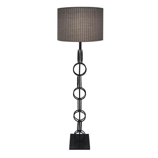Hand Rubbed Bronze Finish Designer 61-inch Floor Lamp