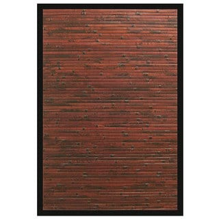 Cobblestone Brown/ Red Bamboo Area Rug (5' x 8')