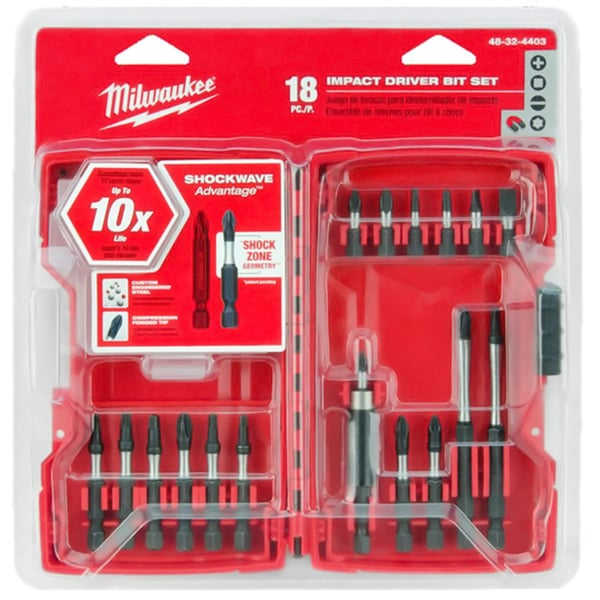 Milwaukee 48-32-4403 Shockwave 18-piece Driver Bit Set