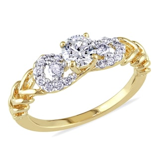 Miadora 14k Yellow Gold 1/2ct TDW Diamond Ring (G-H, I1-I2)