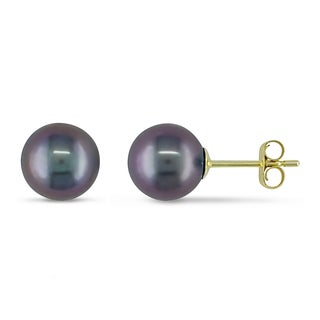 Miadora 14k Yellow Gold Pearl Stud Earrings (6.5-7 mm)
