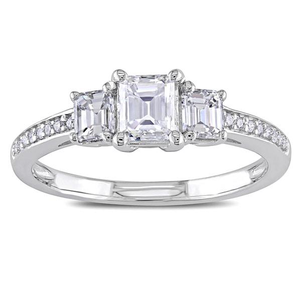 Miadora Signature Collection 14k White Gold 7/8ct TDW Emerald-cut Diamond Ring (G-H, I1-I2)