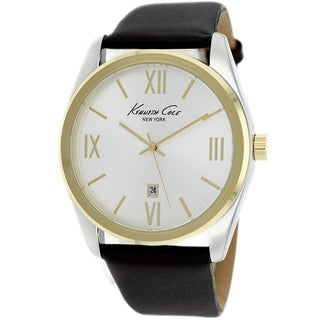 Kenneth Cole Men's KCW1035 New York Black Leather Watch