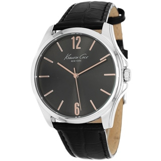 Kenneth Cole Men's KCW1041 New York Quartz Black Leather Watch