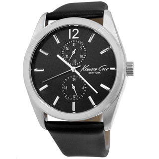 Kenneth Cole Men's KCW1030 Black Leather Chronograph Watch
