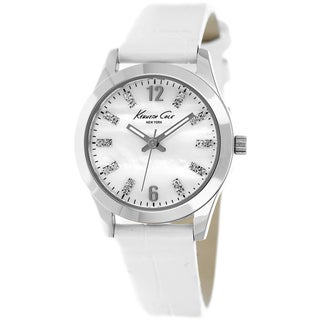 Kenneth Cole Women's 'New York' White Leather Watch