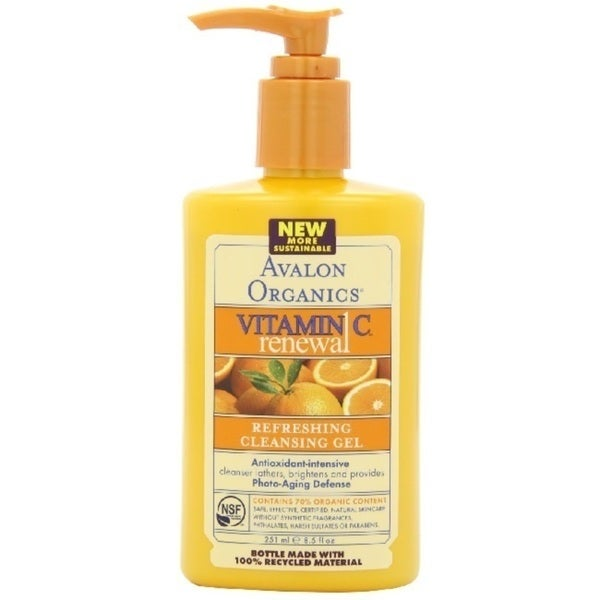Avalon Organics Vitamin C Sun-Aging Defense 8.5-ounce Refreshing Cleansing Gel