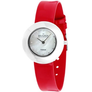 Skagen Women's Crystalized Red Titanium Watch
