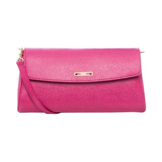 Fendi Small 'Crayons' Fuchsia Saffiano Leather Crossbody Bag