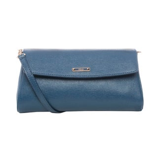 Fendi Small 'Crayons' Blue Saffian Leather Crossbody Bag