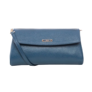Fendi Small 'Crayons' Blue Saffiano Leather Crossbody Bag