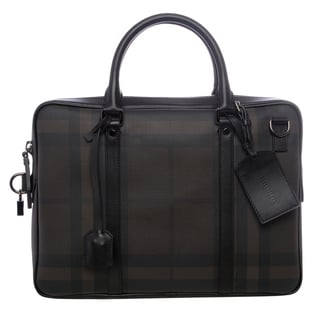 Burberry 'Newburg' Small Smoked Check Briefcase
