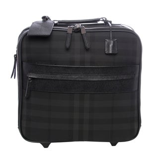 Burberry Black/ Grey Beat Check Pilot Trolley