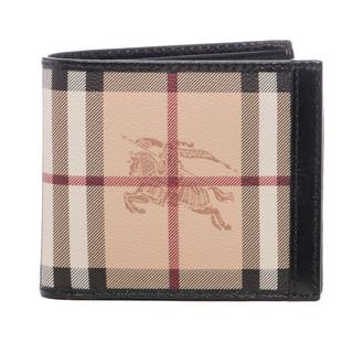Burberry Beige/ Black Haymarket ID Divider Wallet
