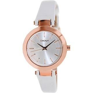 DKNY Women's Rose Goldtone White Leather Quartz NY8835 Watch