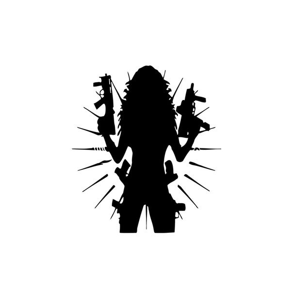 Girl with Guns Vinyl Wall Art