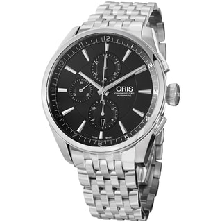 Oris Men's 674 7644 4054 MB 'Artix' Black Dial Stainless Steel Chronograph Watch