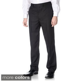 Men's Adolfo Flat Front Dress Pants (Set of 2 pairs)