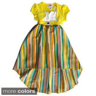 Toddler/ Girls Colorful High-low Dress and Shrug Set