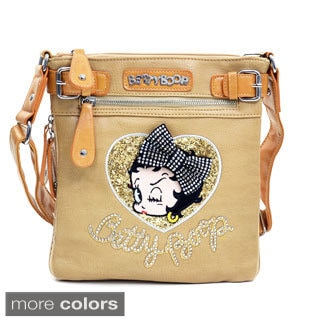 Betty Boop Rhinestones and Bow Messenger Bag