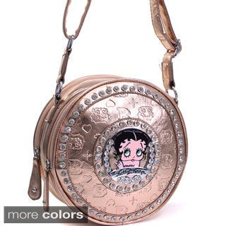 Betty Boop Small Embossed Rhinestone-accent Cylinder Bag