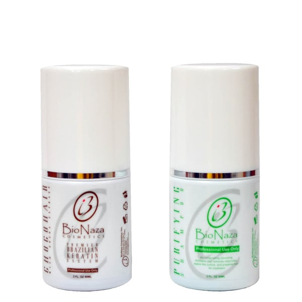 BioNaza Chocohair treatment and Purifying 3-ounce Shampoo Duo