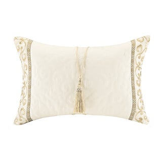 Bombay Tatyana Off-white Oblong Throw Pillow