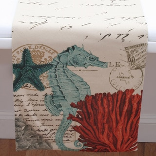 Coastal Seahorse 13 x 72-inch Table Runner