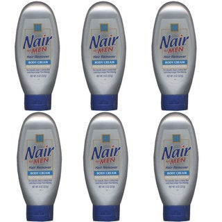 Nair for Men Hair Remover 8-ounce Cream (Pack of 6)