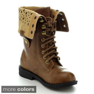 Jelly Beans Girls 'Pueele' Foldable Combat Boots