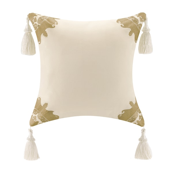 Bombay Tatyana Cotton Square Tassel Throw Pillow - 16186490 - Overstock.com Shopping - Great ...