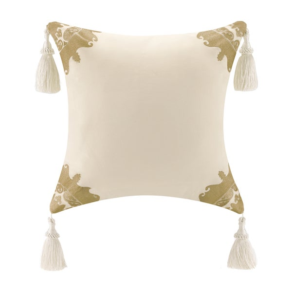 Throw Pillows With Tassels : Bombay Tatyana Cotton Square Tassel Throw Pillow - 16186490 - Overstock.com Shopping - Great ...