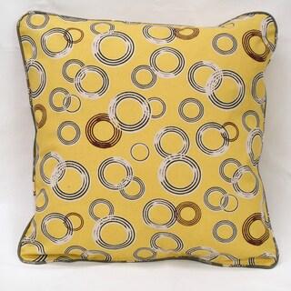 Yellow Organic Cotton Circles Pillow (Set of 2)