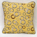 Yellow Organic Cotton Circles Pillow (Set of 2)